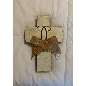 """D"" Monogram Cross"